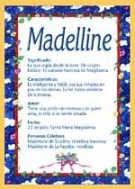 Nombre Madelline