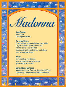 Nombre Madonna