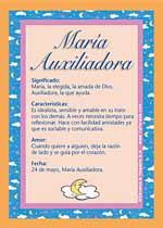 Nombre Maria Auxiliadora