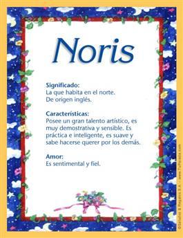 Nombre Noris