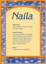 Nombre Naíla