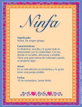 Nombre Ninfa
