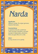 Nombre Narda