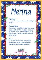 Nombre Nerina