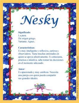 Nombre Nesky