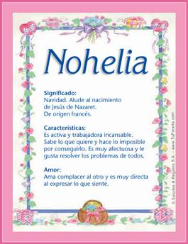 Nombre Nohelia