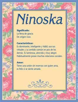 Nombre Ninoska