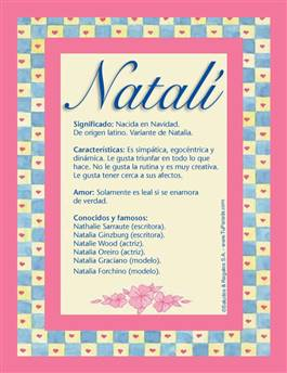 Nombre Natalí