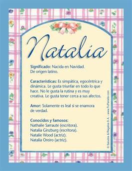 Nombre Natalia