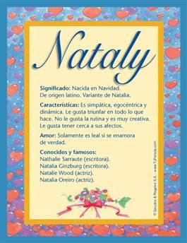 Nombre Nataly