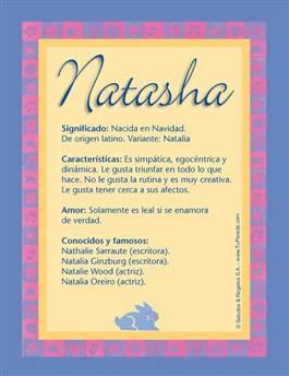 Nombre Natasha