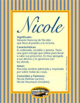 Nombre Nicole