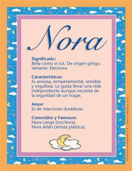 Nombre Nora
