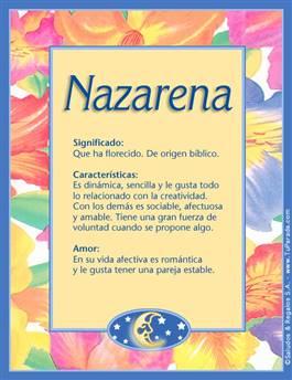 Nombre Nazarena