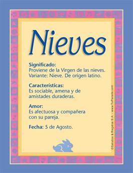 Nombre Nieves
