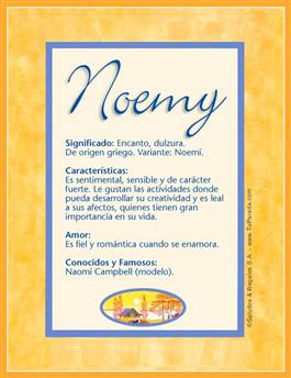 Nombre Noemy