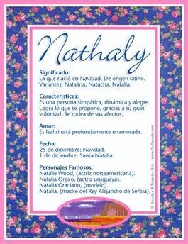 Nombre Nathaly
