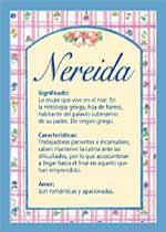 Nombre Nereida