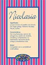 Nombre Nicolasia
