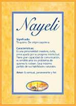 Nombre Nayeli