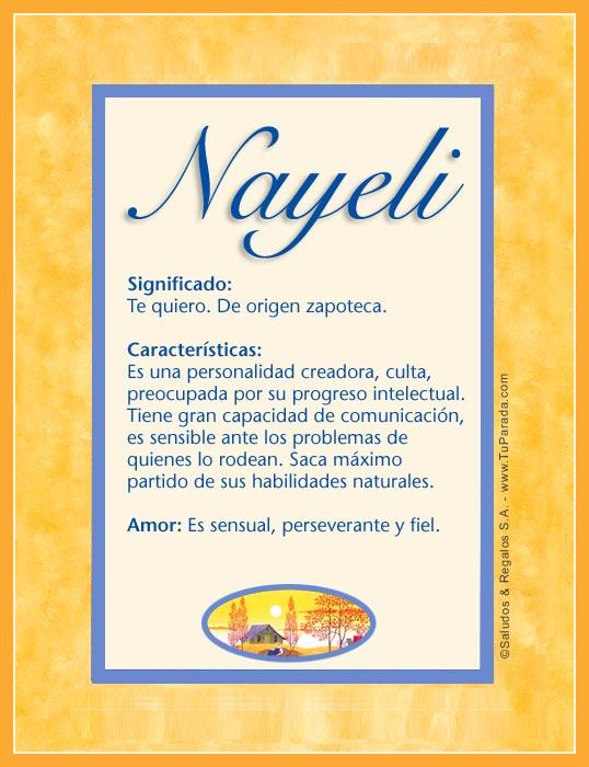 Enviar Tarjeta Postal Nayeli