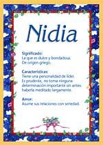 Nombre Nidia