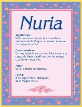 Nombre Nuria