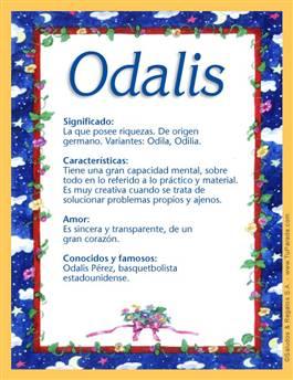 Nombre Odalis