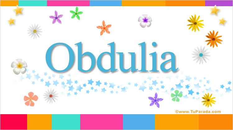 Obdulia, imagen de Obdulia