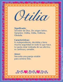Nombre Otilia