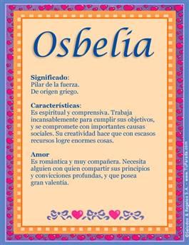 Nombre Osbelia