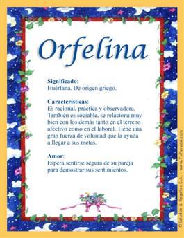 Nombre Orfelina