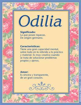 Nombre Odilia