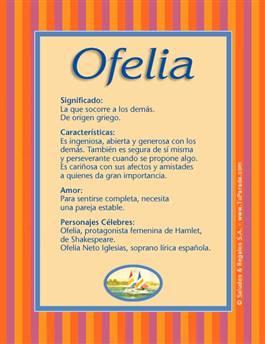 Nombre Ofelia