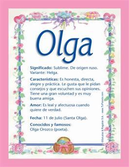 Nombre Olga