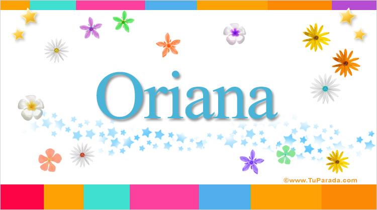 Oriana, imagen de Oriana
