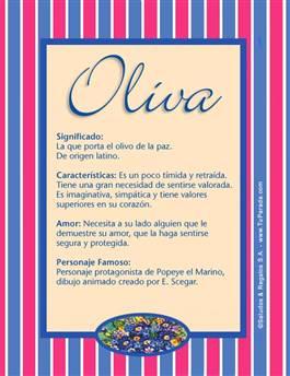 Nombre Oliva