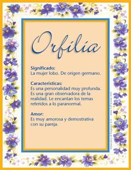 Nombre Orfilia