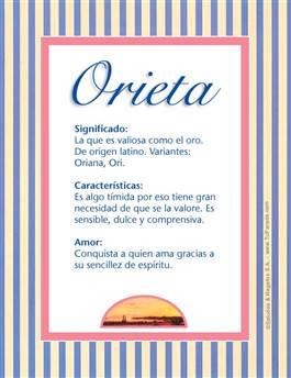Nombre Orieta