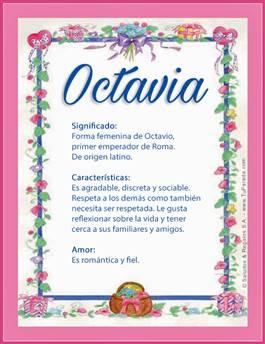 Nombre Octavia