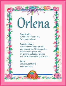 Nombre Orlena