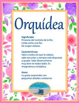 Nombre Orquídea