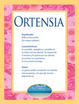 Nombre Ortensia