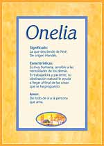 Nombre Onelia