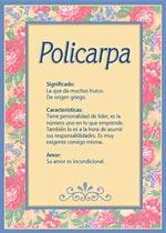 Nombre Policarpa