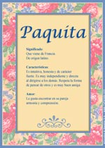 Nombre Paquita