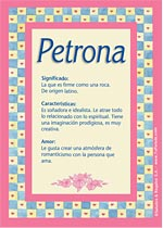 Nombre Petrona