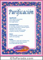 Nombre Purificación