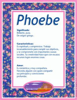 Nombre Phoebe