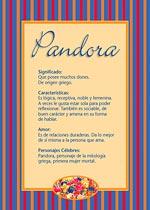 Nombre Pandora